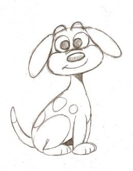 Drawing a Cartoon Dog