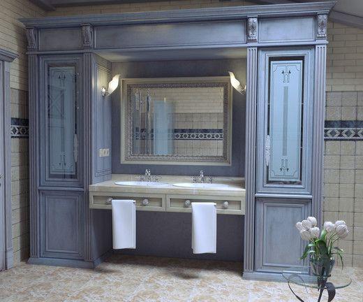 ванная комната стиль прованс фото | Дизайн