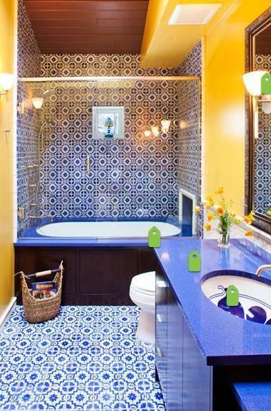 Die besten 25+ gelbe mediterrane Badezimmer Ideen auf Pinterest - wohnzimmer ideen mediterran