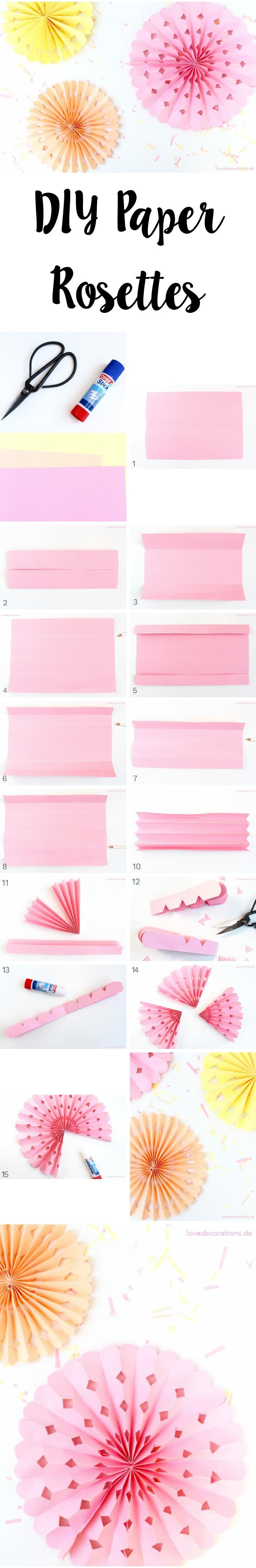 DIY Faltrosetten   DIY Paper Rosettes