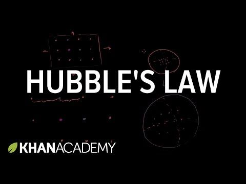 Hubble's law | Scale of the universe | Cosmology & Astronomy | Khan Academy