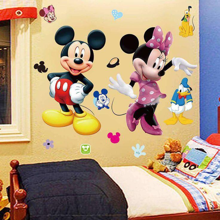 Mickey Minnie Mouse Kids Room Decor Disney Wall Sticker Cartoon Mural Decal  Home Part 63