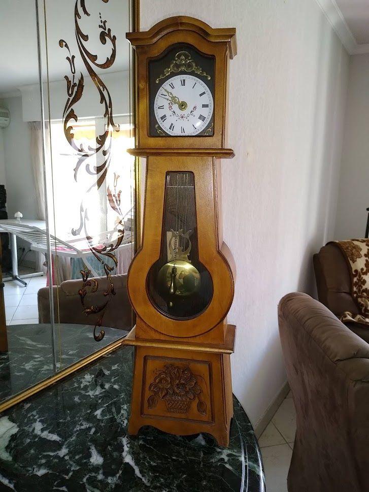 Mini Horloge Comtoise Bois Merisier A 200 En 2020 Horloge Comtoise Bois Merisier Horloge
