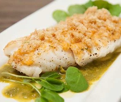 Carlos Gaytan's Chicharron-Crusted Cod Recipe ~  one of my favorite recipes!