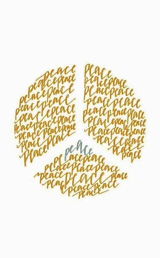 """Peace"" Typography ✌Peace Sign Art by Jillian Schciavi"