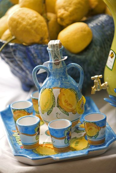 The Amalfi area is famous for its production of lemons – and for the limoncello liqueur