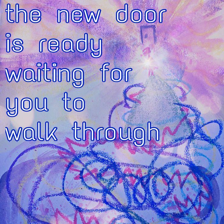 the new door is ready..