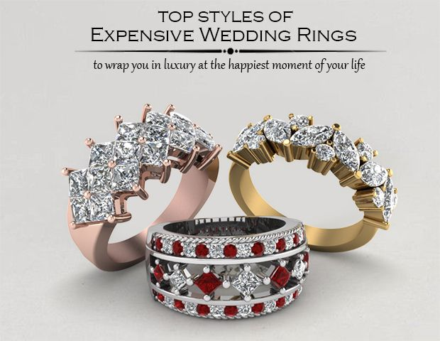 Trending Expensive Wedding Rings exclusively styled by Fascinating Diamonds
