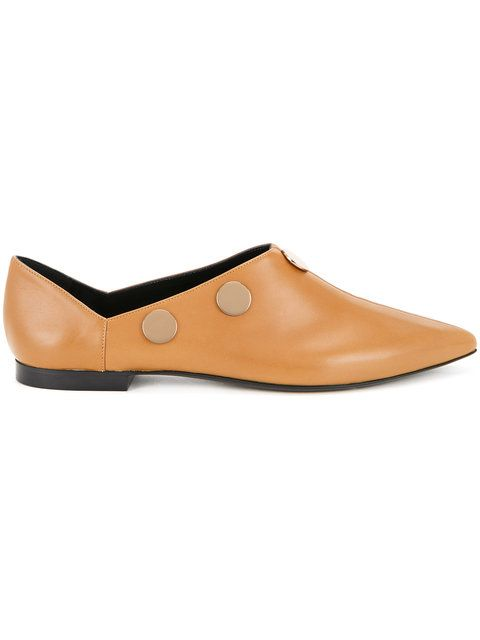 Shop Pierre Hardy Penny pointed toe loafers.