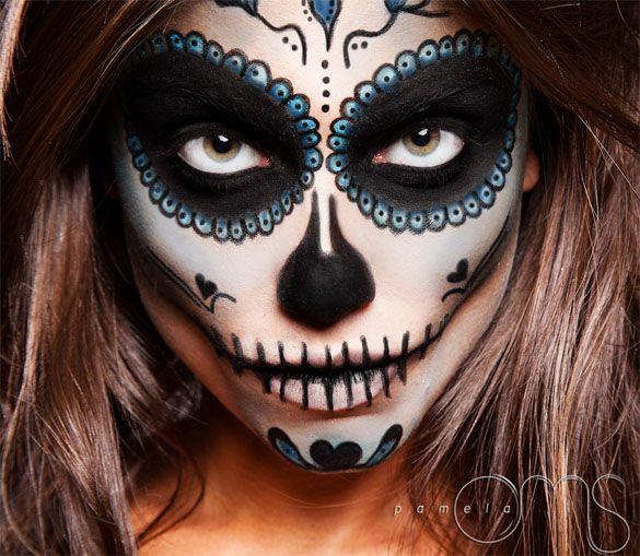 caveira mexicana maquiagem colorida - Pesquisa Google