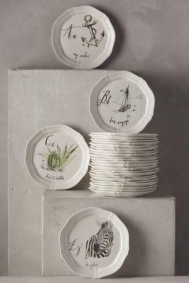 Linea Carta Calligrapher Canape Plate #anthrofave