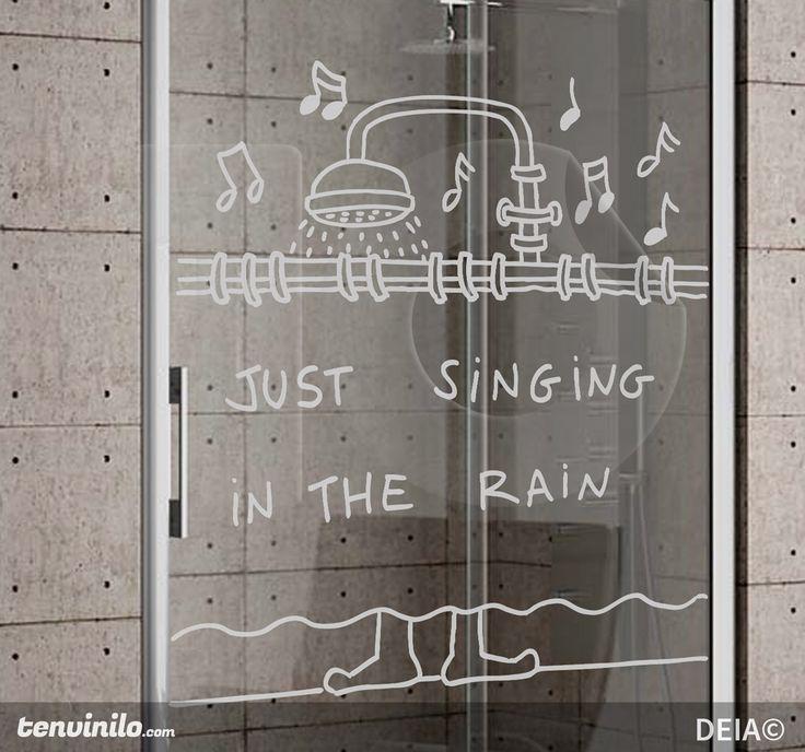 Vinilo decorativo singing ducha