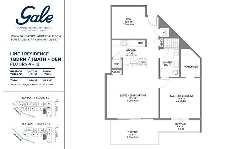 Гейл Форт-Лодердейл офис продаж - план этажа 1 ценообразование
