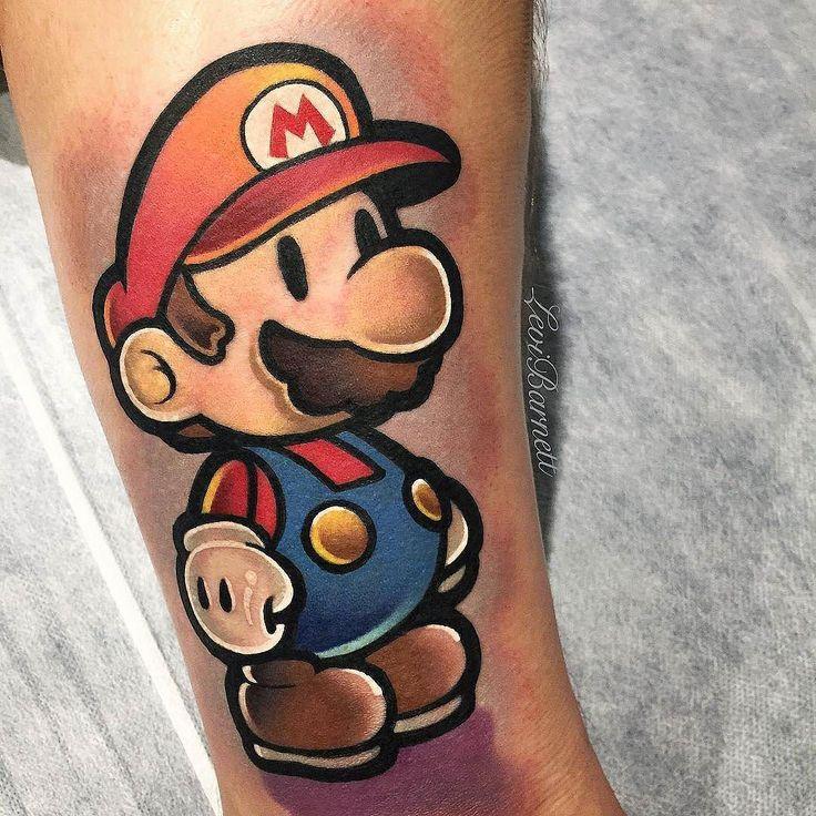 Super Mario by @xlevibarnett_tattoox in Melbourne Australia. #mario #supermario #supermariobros #xlevibarnett_tattoox #melbourne #australia #tattoo #tattoos #tattoosnob