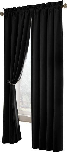 $32.39 $39.99 Baby Maytex Velvet Blackout Panel Curtain, Black   Heavy  Weight Luxury Velvet