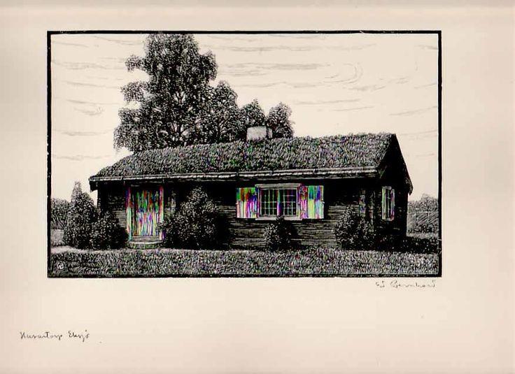 Eksjö, Husartorp, Waldemar Bernhard originalträsnitt