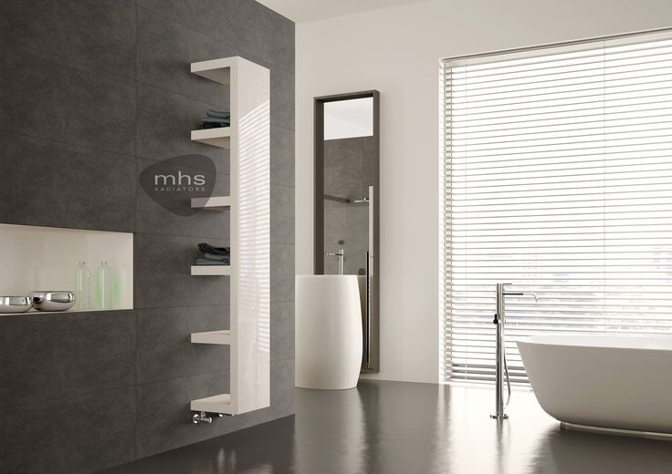 A designer radiator with heated shelving...Didn't think it was  possible ? Well at MHS it is. The Quadra provides shelves for towels neatly hidden behind a stylish radiator.  Combining form and function- perfect for your luxury bathroom. Colour choices available with the option of choosing an electric Quadra.