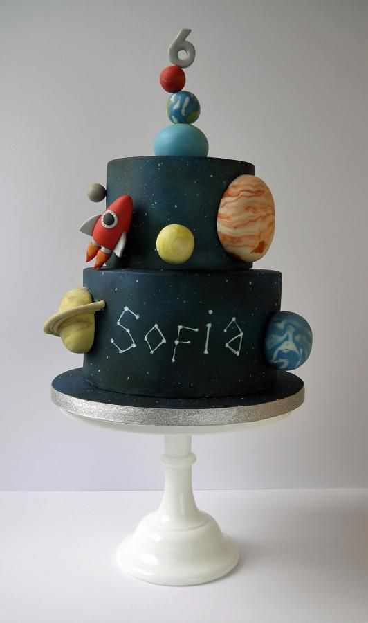 Solar System Birthday Cake - Cake by The Little Kendal Cakery