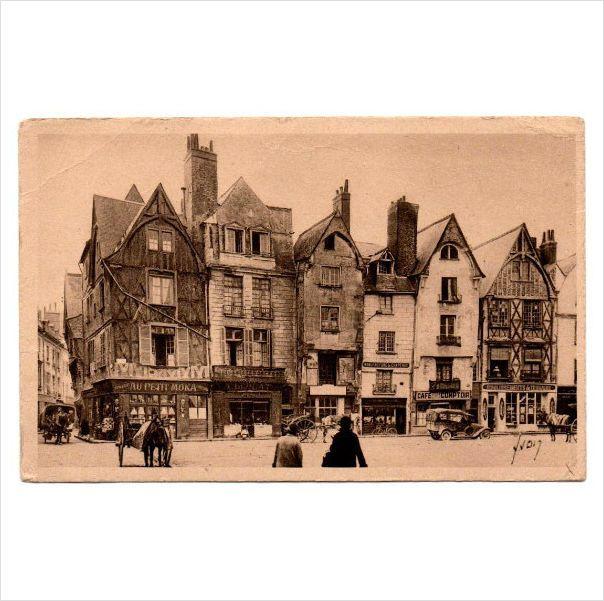 Tours Indre et Loire Place Plumereau old houses horse carts YVON #postcard 9 on #eBid United Kingdom