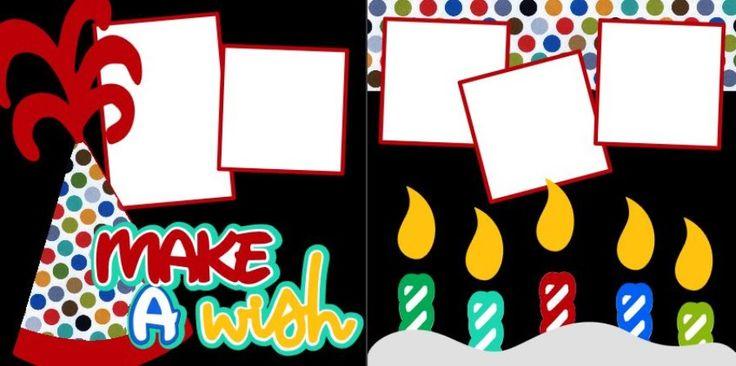 Make A Wish scrapbook pagekit $8.00