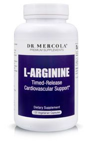Taking an L-arginine supplement benefits your cardiovascular health by promoting nitric oxide production, which is essential to optimal blood flow.* http://products.mercola.com/l-arginine/