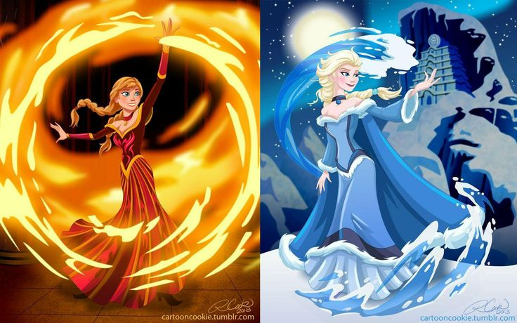 Sister benders!! Frozen crossover avatar — this would be awesome!!! Frozen 2, please? Maybe? Hello….?