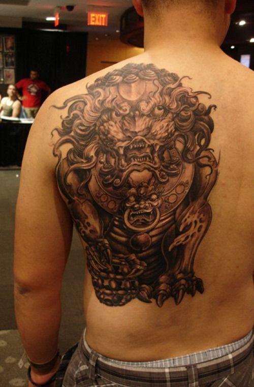 Cool Foo Dog Tattoo For Men Foo Dog Tattoo Foo Dog Tattoo Design Dog Tattoos
