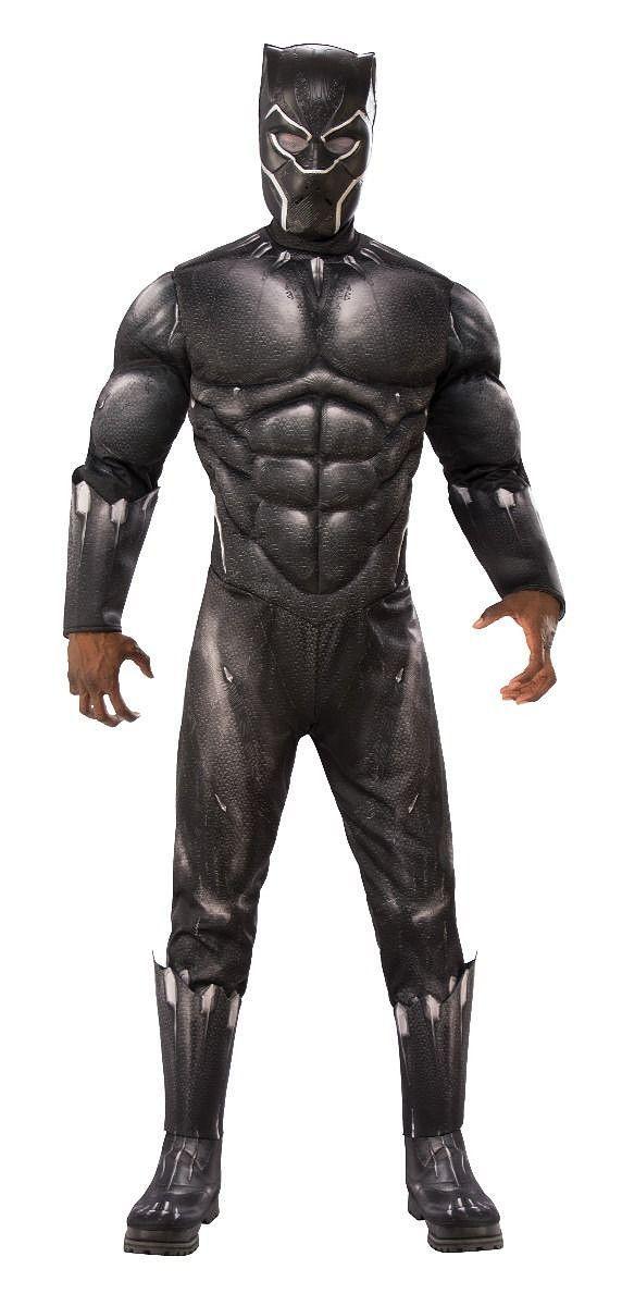 DELUXE Marvel/'s panthère noire costume de combat Costume Avengers Garçons Enfant Small Medium-Large