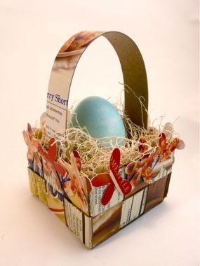 18 best diy images on pinterest basket weaving baskets and how to weave an easter basket from recycled boxes negle Gallery