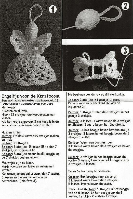 crochet angel (Dutch pattern)