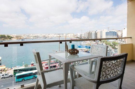 Location saisonnière Appartement Vue mer Sliema - Malte