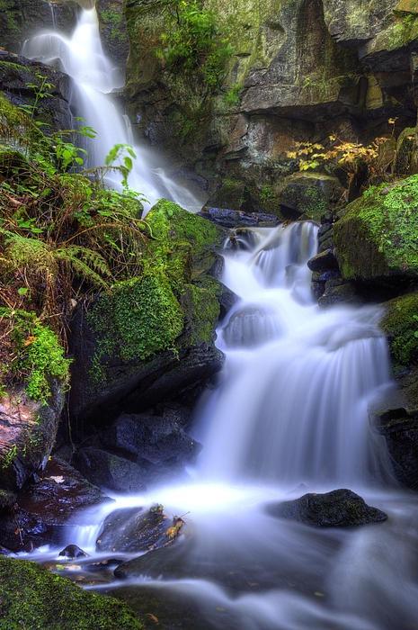 Waterfall in Derbyshire, UK