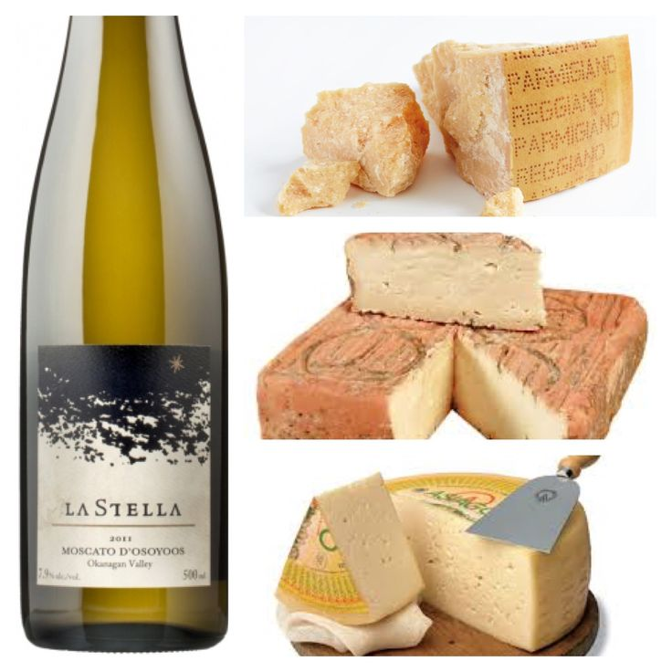 A Wine & Food Pairing from Alex (our Wine Club Manager & Tasting Room Supervisor) at our sister winery La Stella: Wine - Moscato D'Osoyoos Food - Parmigano Reggiano, Tellagio, and Asiago. Moscato is an amazing cheese course wine. It's slight effervescence and off dry character will show beautifully with this selection of classic Italian cheeses.  $20 - http://www.lastella.ca/product/bianco-rosato/2013-moscato-d-osoyoos/