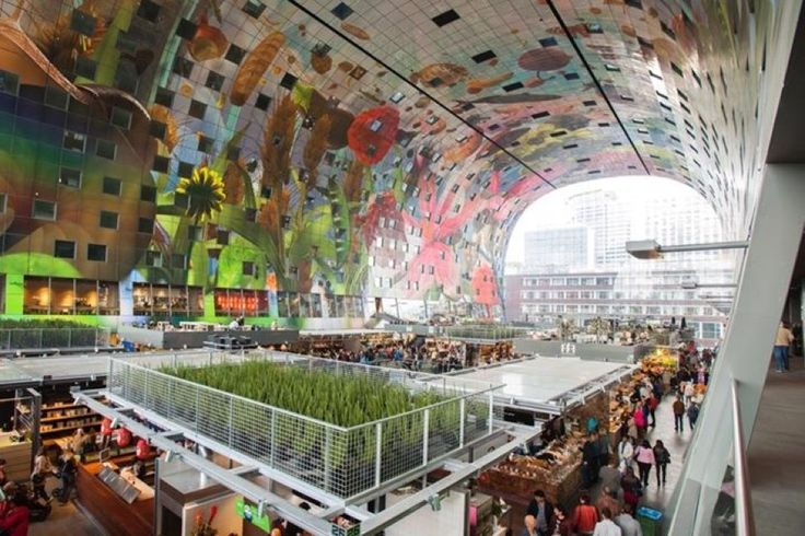 Markthal in Rotterdam, Zuid-Holland: This is supposedly the world's largest art piece. The architecture is impressive and the food is delicious!