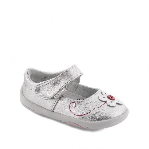 Pantofi bebelusi Lorraine Silver - pediped
