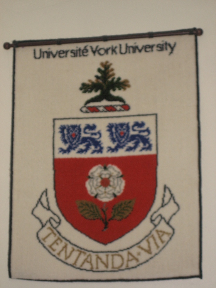 This has been hanging in my basement for as long as I can remember...I guess I was destined to go to York.  Interesting fact: York's motto Tentanda Via means 'The way must be tried'