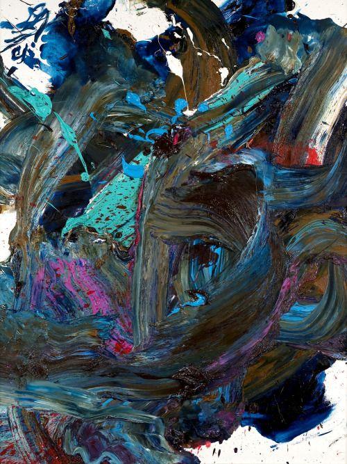 Ton Kazuo Shiraga Oil On Canvas