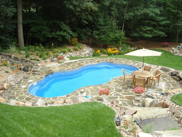 fiberglass pools pool backyard patio swimming pool designs ground