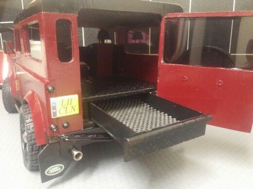 Handmade land rover defender, pull out rear drawer