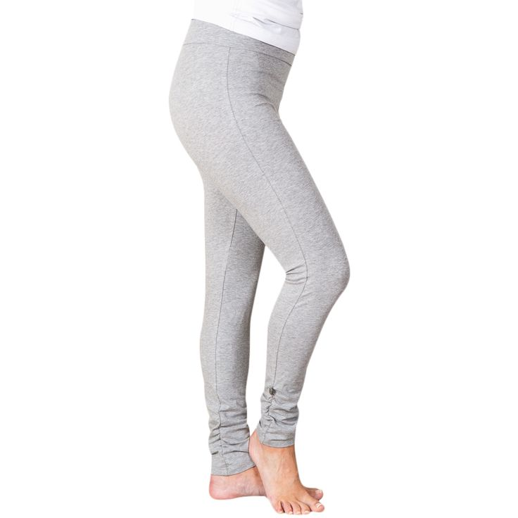 Wrinkled leggings - grey melange