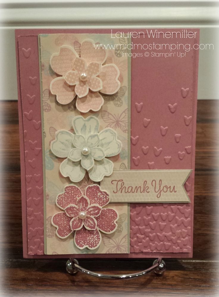 2017 Occasions Catalog, Falling in Love DSP, Falling Petals Embossing Folder, Thankful Thoughts, Flower Shop, Petite Petals, Pansy Punch, Petite Petals Punch, Stampin'Up! www.midmostamping.com