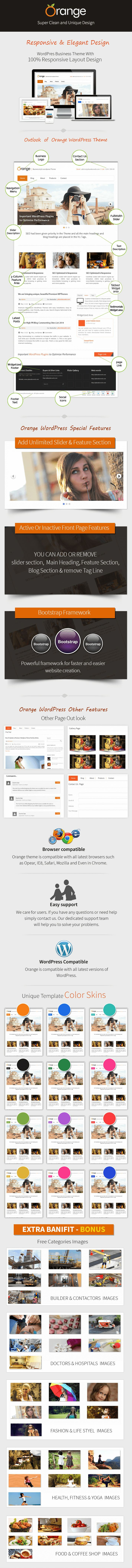 ORANGE - #Multipurpose #Business #WordPress #Theme - Only $9 What includes in this Theme: #Free #image #bunches for #different #domains. Get Free Item Updates. Get Free #On-Going #Support. #Unique #template #color #skins. Access to Item #Documentation. #Standard #License (You can use this on personal, commercial or client projects.)