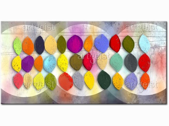 Cuadro decorativo Desfile de colores #cuadro #cuadros #fotos sobre lienzo #fotos #sobre #lienzo #abstractos
