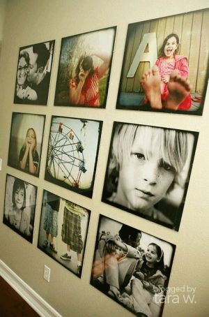 Family pic wall Idea.