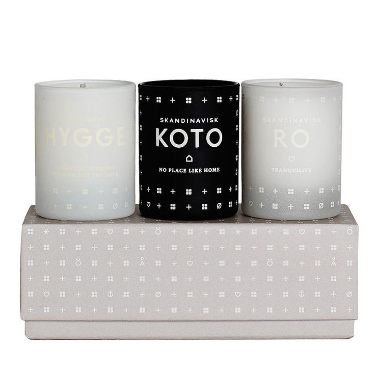 top3 by design - Skandinavisk - home candle set koto ro hygge
