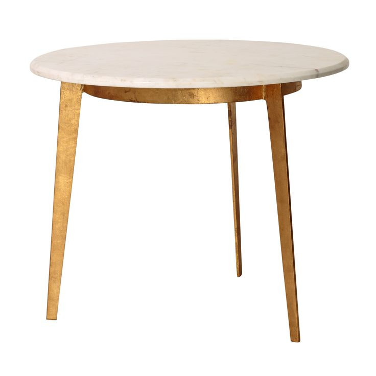 Gold Luxe Round Side Table at Oliver Bonas