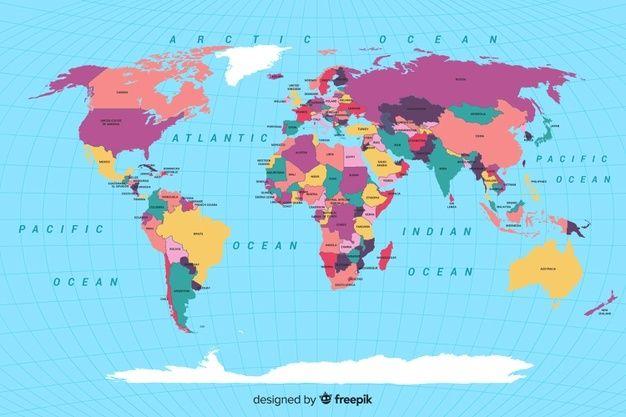 Carte Du Monde Grand Format Mappemonde Detaillee Avec Pays Et