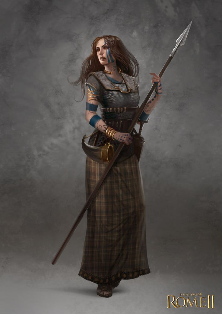 Total War: Rome II - Inceni Female Champion by telthona on deviantART [fighter, barbarian]