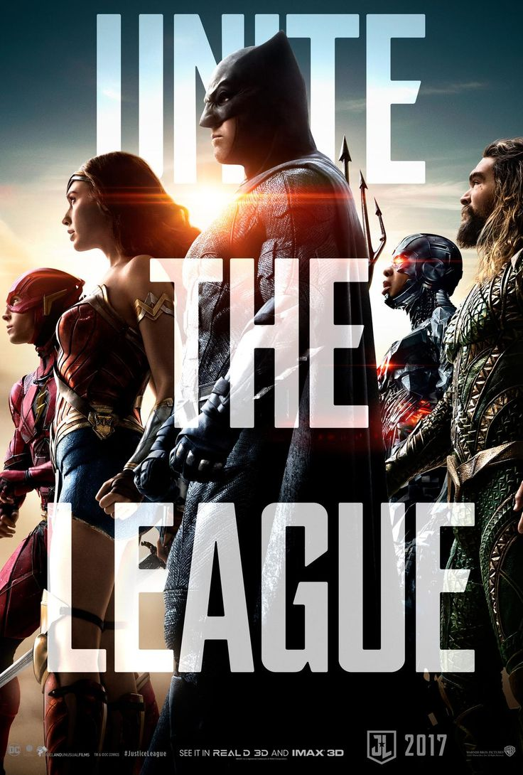 """Justice League: New Poster Revealed  A new poster for Warner Bros.' upcoming DC film Justice League has been released.  In a post on Twitter director Zack Snyder revealed the poster which features Batman (Ben Affleck) The Flash (Ezra Miller) Wonder Woman (Gal Gadot) Cyborg (Ray Fisher) and Aquaman (Jason Momoa) all standing united with the words """"Unite the League"""" promptly displayed.  Justice League poster via Twitter  Continue reading  https://www.youtube.com/user/ScottDogGaming…"""