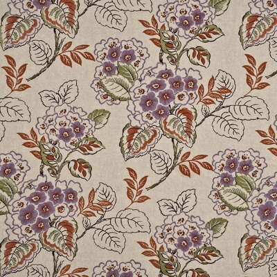 """Mulberry fabric """"Majorelle Linen"""" in Aubergine/Paprika. Love the specks of aubergine and terracotta in this print, very pretty."""